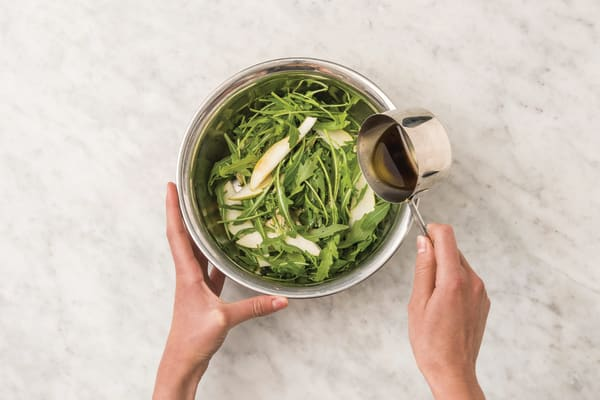 Add sauce to the gnocchi