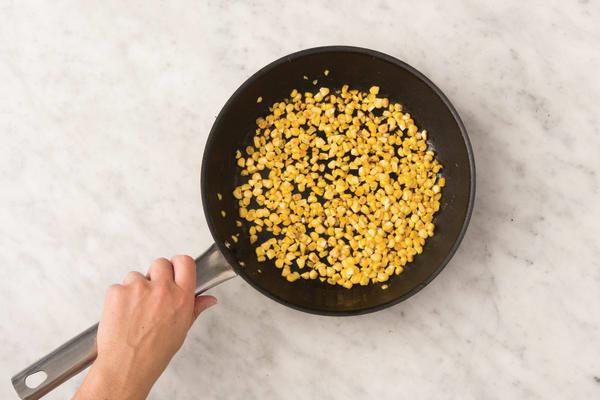 Char the corn