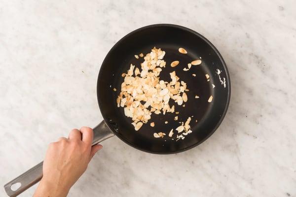 Toast the almonds