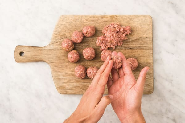 Make the meatballs