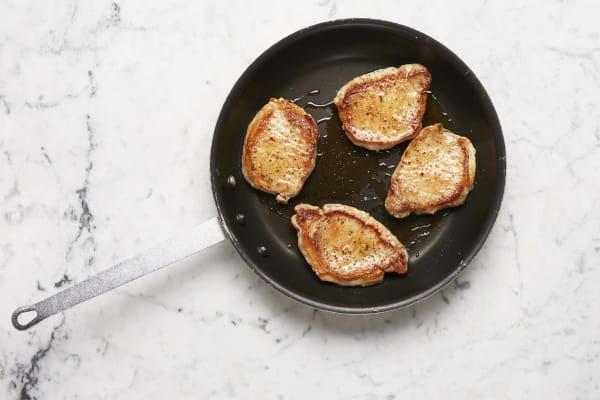 Make Glaze and Cook Pork