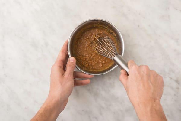Make the peanut dressing