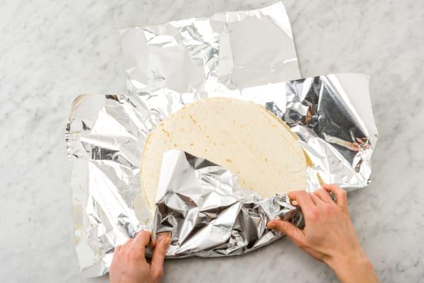 Réchauffer les tortillas