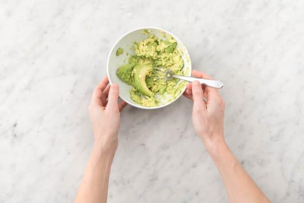 Prepare the avocado