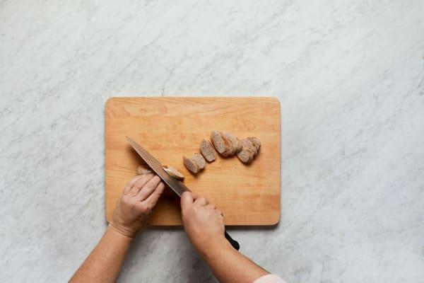 Slice Sausages and Toast Flatbreads