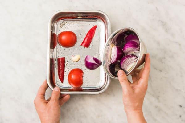 Baka grönsakerna