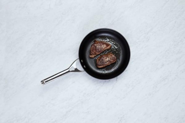 Mash Potatoes and Cook Steak