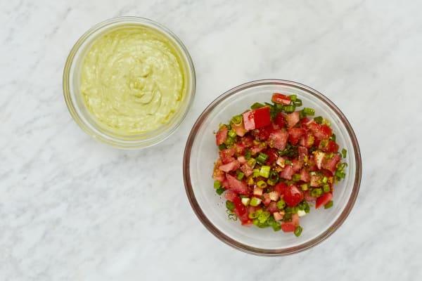 Make Salsa Fresca and Creamy Guacamole
