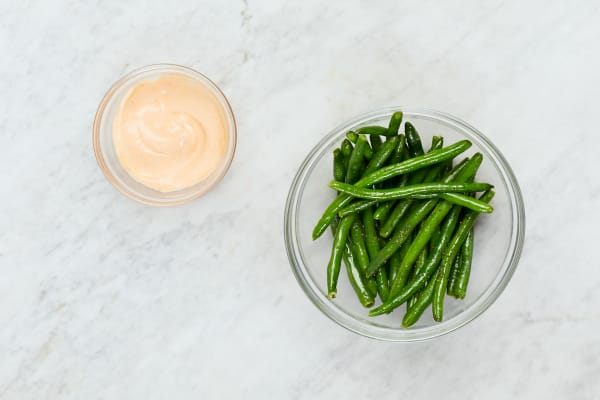 Cook Green Beans and Make Spicy Mayo