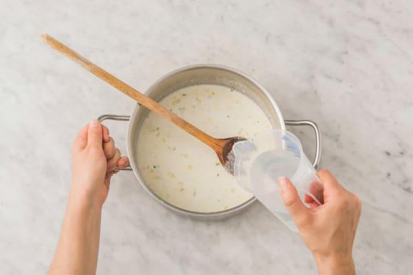 Tillsätt kokosmjölk