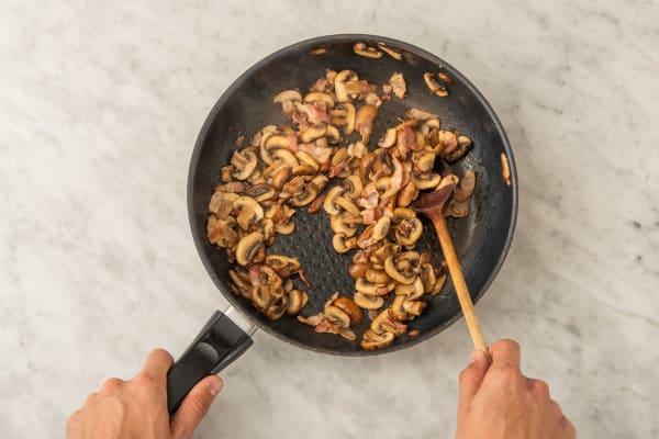 Stek bacon & svamp