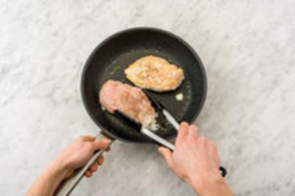 Voorbereiden en kip bakken