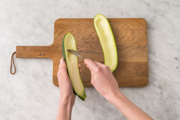 Zucchini vorbereiten