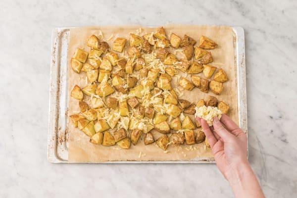 Bake the cheesy potatoes