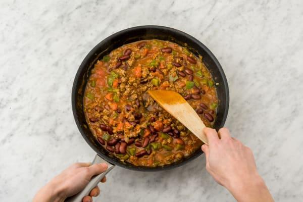 Simmer the chili