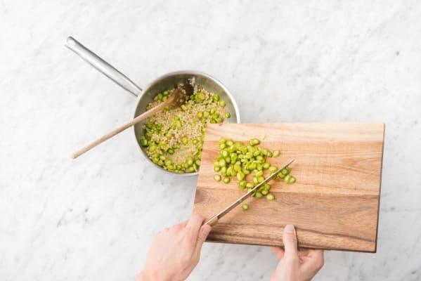Make the couscous pilaf