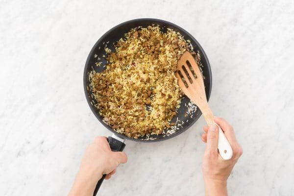 Add rice.