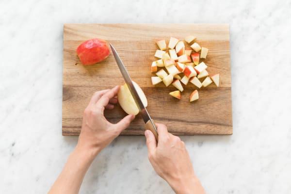 Apfel zerkleinern