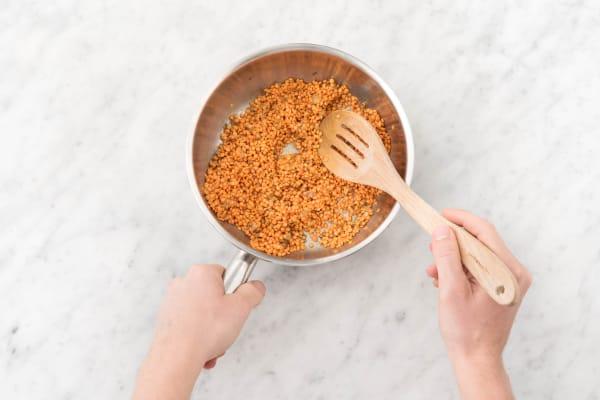 Cook lentils.