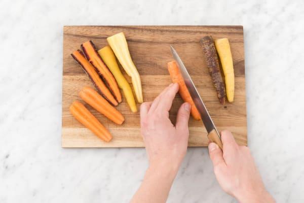 Prepare carrots.