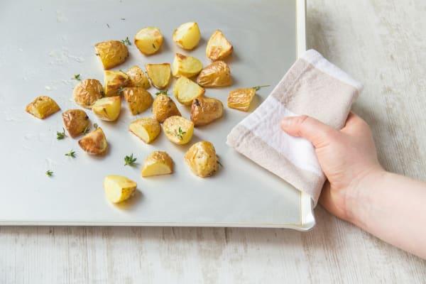 Bake the potatoes