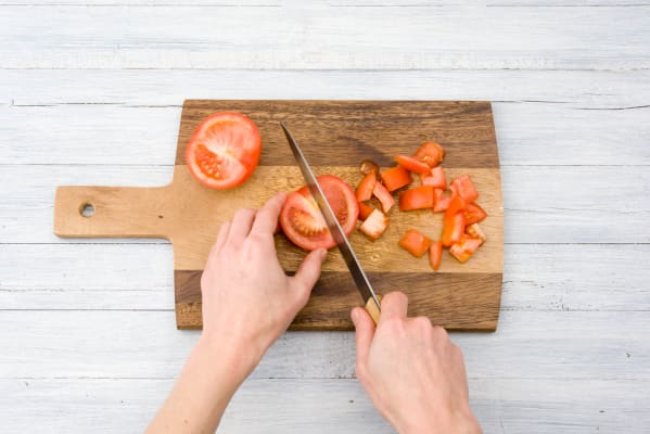 Prep tomato.