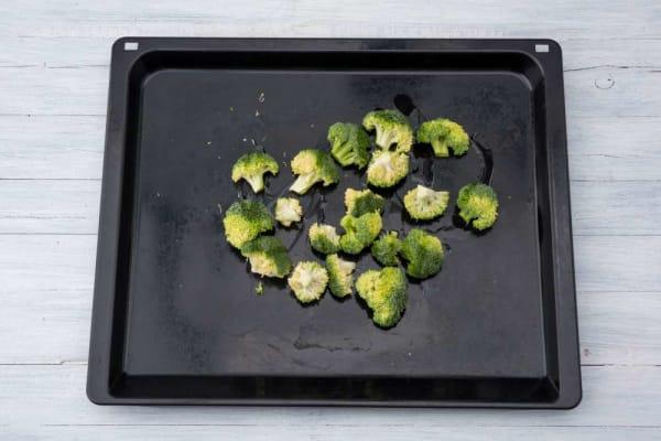 Preheat oven and roast broccoli