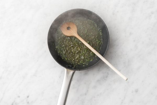 Make herb pan sauce