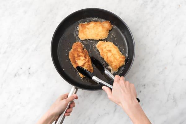 Fry the pork on each side