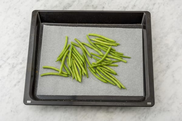 Broil the green beans