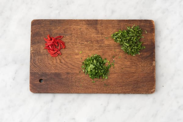 Prep herbs.