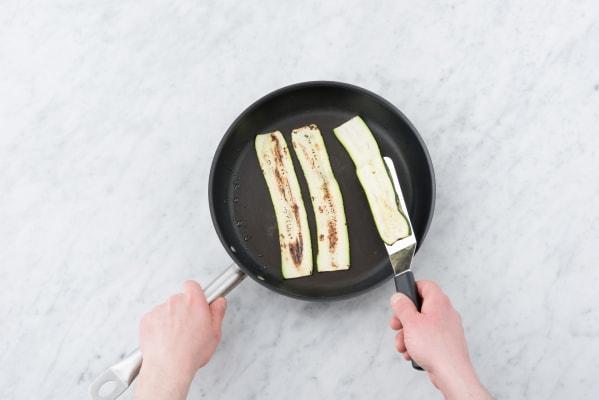 Char the zucchini