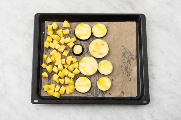 Gemüse im Ofen garen
