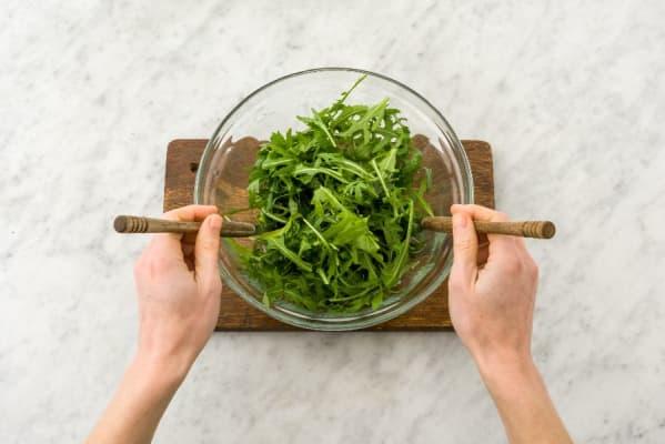 Make Salad and Season Lentils