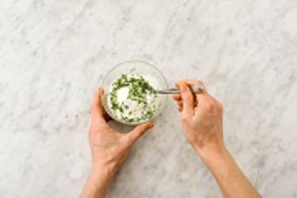 Make the mint raita