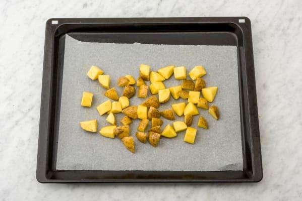 Preheat Oven and Roast Potatoes