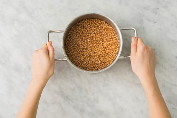 Preheat Oven and Cook Farro