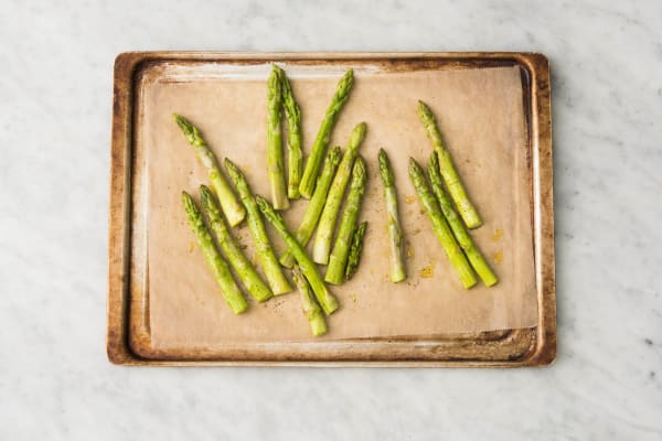 Cook Asparagus and Prep Crust