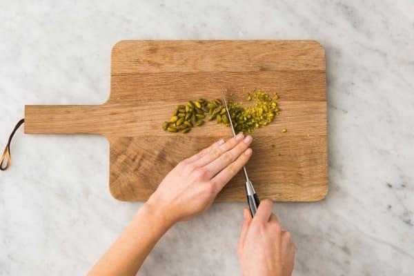 Griller les pistaches