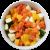 Mélange de poivrons rouges, courgettes, poireaux et carottes jaunes prédécoupés