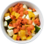 Groentemix van paprika, prei, gele wortel en courgette