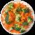 Brokkoliröschen und gehobelte Karotten