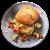 Œufs brouillés au poivron et cresson servis dans une ciabatta complète