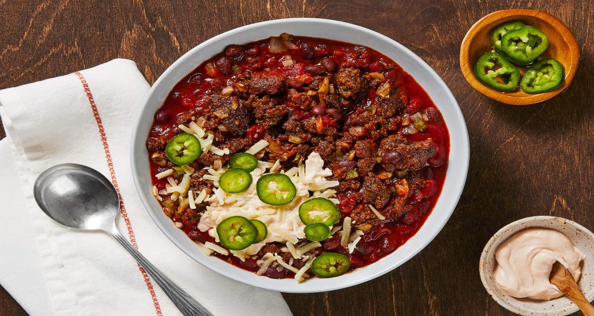 Beef And Black Bean Chili Recipe Hellofresh