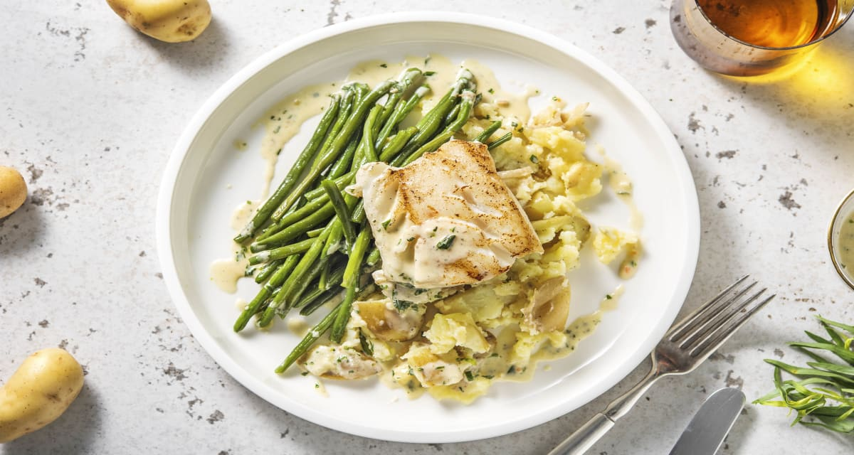 Cod With New Potatoes Sauce Recipe Hellofresh