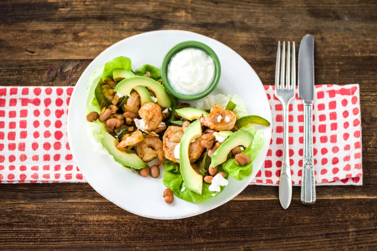 Shrimp Taco Lettuce Wraps