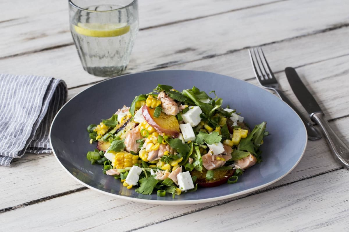 Charred Corn & Rainbow Trout Salad
