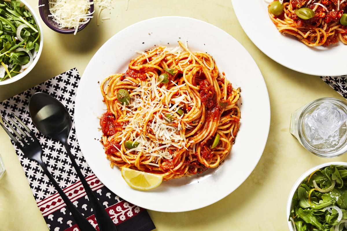 Green Olive Pasta Puttanesca