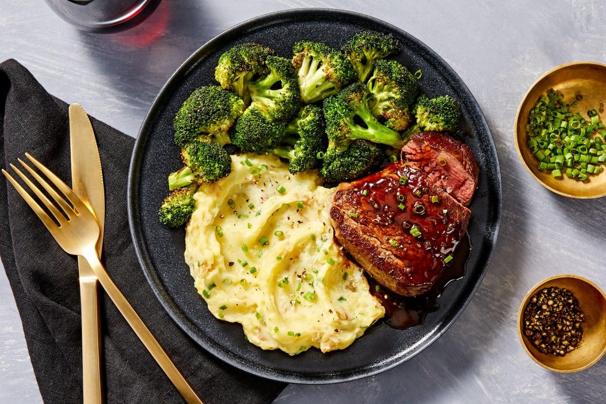 Beef Tenderloin and Balsamic Steak Sauce