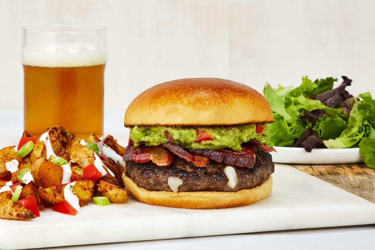 Bacon Guacamole D-Luxe Burgers